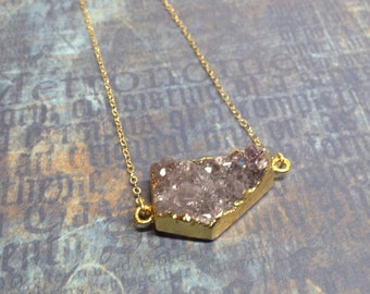 Gold Filled Amethyst Necklace