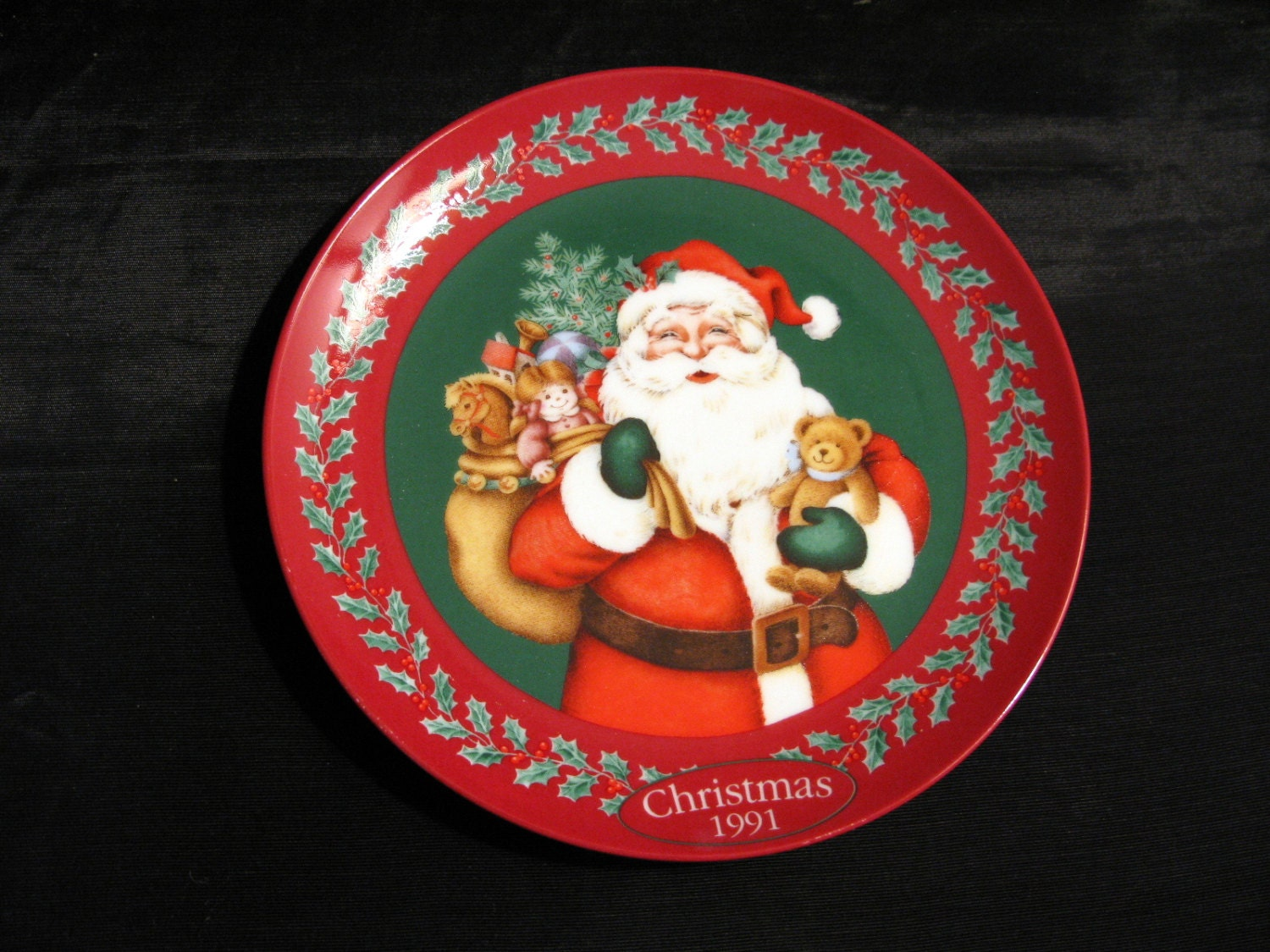 Santa Plate Collectible Plate Christmas Santa by ...