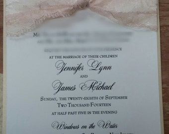 RUSTIC LACE INVITATIONS - Customize for Weddings, Showers, Birthdays, Bat Mitzvahs, Sweet 16s and more
