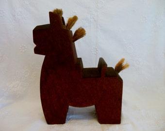 JAPANESE WOODEN HORSE * Antique Good Luck Horse Folk Art Toy * Horse * Equine * Handcarved Wooden Horse * Horse Doll