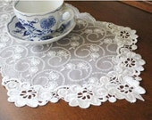 Wholesale Handmade Wedding Home Deco Tableware Table Doily Runner,Embroidery&Lace 25x60cm