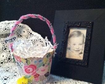 "Old fashioned Easter ""PEEP"" Basket"