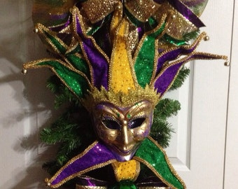 Mardi Gras Swag/Wreath