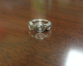 Swirl Wire Wrapped Ring/ Silver Wire Wrap Ring/ WIRE WRAP RING/Wire Weave Ring