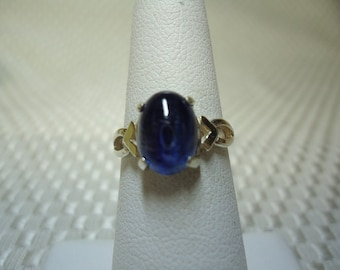 Oval Cabochon Nepalese Kyanite Ring in Sterling Silver