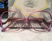Mainstreet Violet clear fade Butterfly eyeglasses sunglasses frames clear vintage 1970's