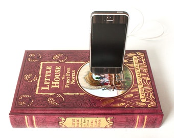 Little House on the Prairie by Laura Ingalls Wilder, Leather Bound Samsung Galaxy S3, iPhone 6, iPhone 5, iPhone 5S, iPhone 4S Book Dock