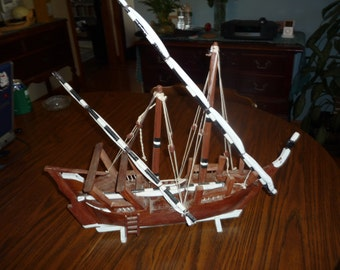 Model of a Middle Eastern Ship Lanteen Rigged