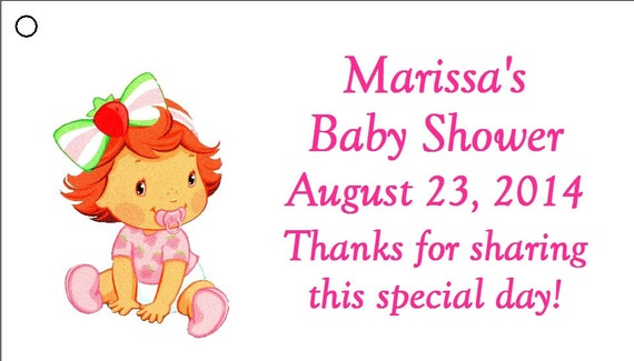 items similar to 20 personalized baby strawberry shortcake baby, Baby shower invitations