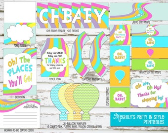 INSTANT DOWNLOAD - Oh, The Places You'll Go 'Baby Shower' Printable Package