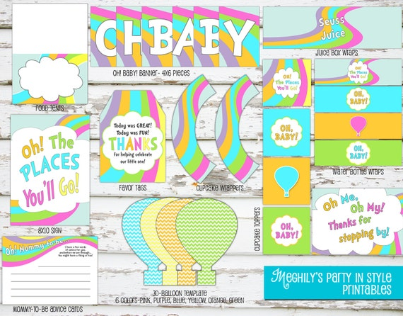 instant download oh the places you 39 ll go 39 baby shower 39 printab