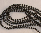 Pearls by the Yard, Black Pearl, Your Choice - 4mm or 6mm - Floral, Wreath Accent, Fabric, Costume Accent