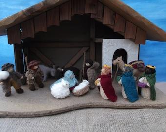 Knitted Nativity set