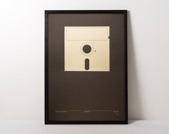 Gold Screen printed Game Over poster.