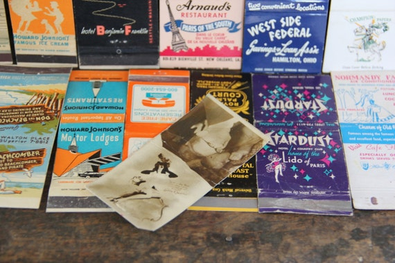Vintage Matchbook Match Book Collection By Scrapology On Etsy
