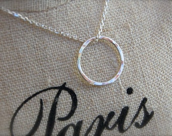 Simple Circle on Sterling Silver Chain