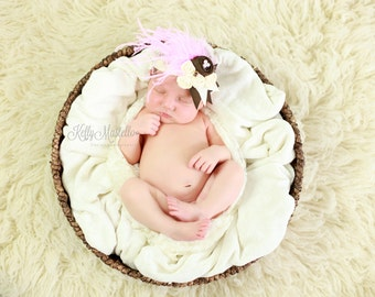Baby Couture Headband, baby headbands, Pink Headband, Couture Baby Headband, Rose FLower Headband,  Lace Headband
