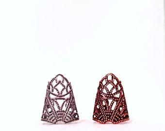Renaissance Finger Armor Cap - medieval - gothic - fantasy - steampunk - rpg - elven - bague armure