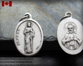 St. Jude. Saint Jude. St Jude Pendant. St Jude Necklace. Patron Saint. Charm. Medal. Catholic. Add STERLING Silver chain. Made in ITALY.