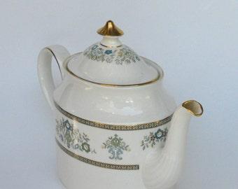 Minton Bone China Teapot Henley Pattern