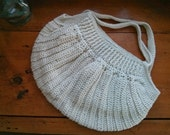 SALE 30-50% off of Ready to Ship - Eco Chic Organic Cotton Crochet Hobo Style Purse (Was USD 42)