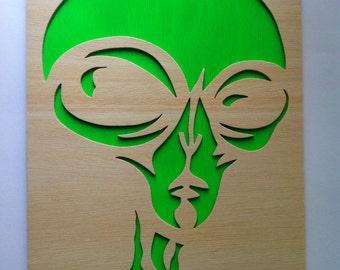 Alien wooden scroll saw