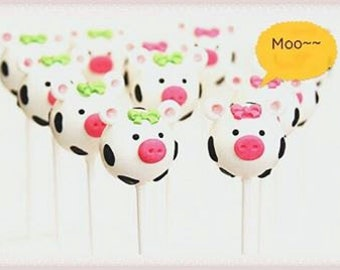Birthday Cake Pops (Cows)