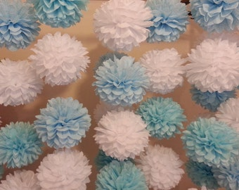 Tissue Paper Pom Poms Set of 60 - Special offer - Ceremony // Baptism // Parties // Baby Shower // Weddings
