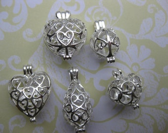 Lockets silver plated locket supplies  locket  Assortment five