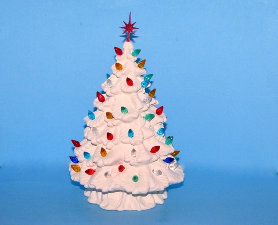 Small Ready To Paint Ceramic Christmas Spruce Tree By