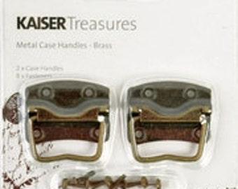 Kaisercraft Treasures Metal Case Handles Color : Brass