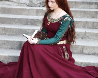 "DISCOUNTED PRICE! Medieval Wool Dress ""Sansa"" limited custom dress; medieval dress; ren dress; wool dress; winter dress"