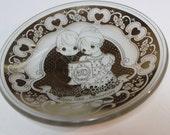 Precious Moments 50th Anniversary Glass Dish