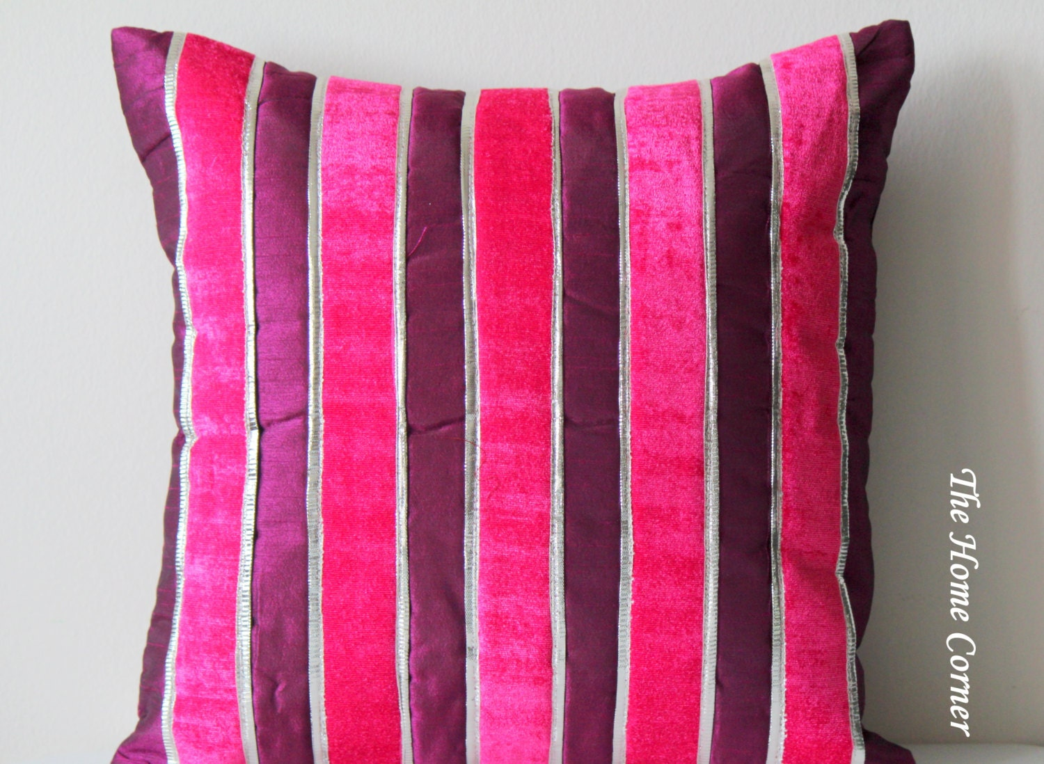 Pink Purple Decorative Pillows : Pink and Purple Pillow Fuchsia Pink Throw Pillow by TheHomeCorner