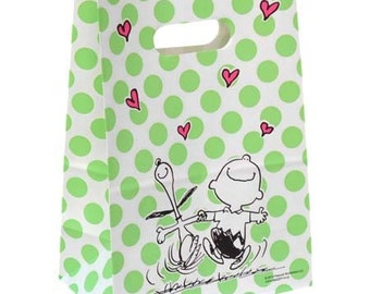 Snoopy & Charlie Brown Stand up Paper Bags Sets of 4