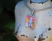 Mary Scrabble Tile Resin Necklace