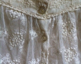 Ivory Colored Lace Blouse By Pinky