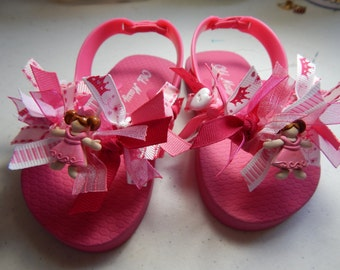 FLIP FLOPS Fit for a PRINCESS---toddlers