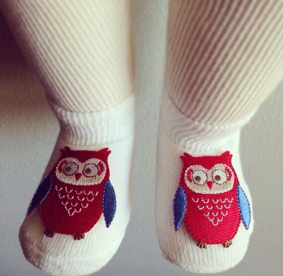 Baby owl socks baby boy shoes newborn clothes baby socks