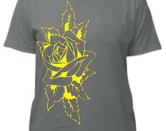 Gray Rose Tee Shirt
