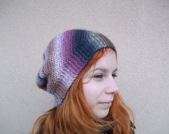 beanie hat knitted design drops