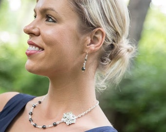 Bridesmaid Gift-Wedding Party Jewelry-Charcoal Grey Jewelry-Pewter Jewelry-Grey Bridesmaid Jewelry-Dream Day Designs