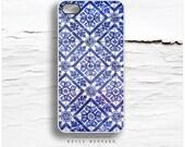 iPhone SE Case, iPhone 6S Plus Case Old Portuguese Tile, iPhone 5s Case, iPhone 6 Case, Geometric iPhone 6 Case, Blue iPhone 5C Cover F19
