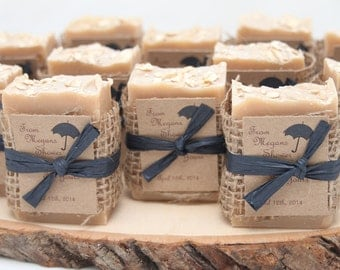 75 handmade soap favors custom favours wedding favors baby shower rustic favors