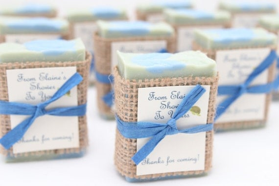 25 Rustic Soap Favors Handcrafted Baby Shower Bridal