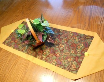 SALE -Table runner-paisley print