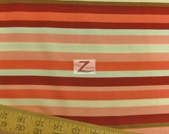 """Stripe Domestic Diva By Riley Blake 100% Cotton Fabric - 45"""" Width Sold By The Yard (FH-706)"""
