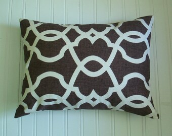 "Brown Lumbar Pillow  Home Decor ""  Emory Choolate""  12 X 16   Accent Pillow Decorative Pillow Pillow covers Brown Pillows"