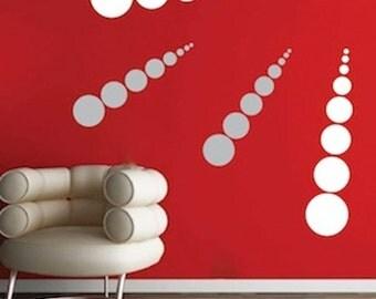 Modern Dot Wall Decals, Circle Wall Decals, Dot Wall Art, Dot Wall Decor, Dot Wall Decal, Shape Wall Decor, Dots Wall Murals, Dot Art, d66