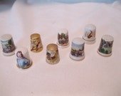 Collection of 8 vintage Thimbles